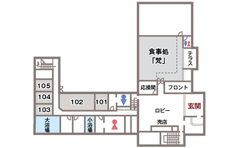 本館1階フロアマップ